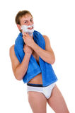 Man briefs shaving Royalty Free Stock Images