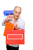Man bring paper bags Stock Photos