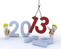 Man bringing in the new year Royalty Free Stock Photos