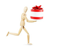 Man brings a gift Royalty Free Stock Images