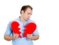 Man with broken heart Stock Photography