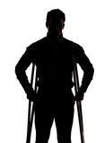 Man with broken leg Royalty Free Stock Photo