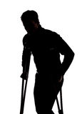 Man with broken leg Royalty Free Stock Photos