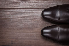 Man in brown shoes Royalty Free Stock Photos
