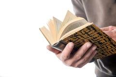 Man is browsing a book Stock Photos