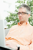 Man browsing internet Stock Photo