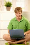 Man browsing internet Royalty Free Stock Photography