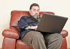 Man browsing the internet Royalty Free Stock Photo