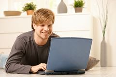 Man browsing internet Stock Images
