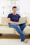 Man browsing internet Royalty Free Stock Image