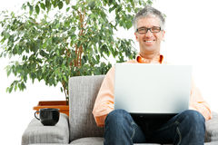 Man browsing internet Royalty Free Stock Photo