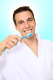 Man Brushing Teeth Royalty Free Stock Photos