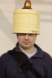 Man with bucket Royalty Free Stock Images