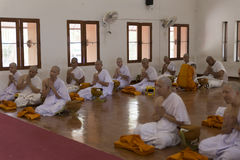 Man in buddhist monk ordination ceremony Stock Images