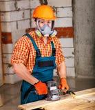 Man in builder helmet . Stock Photos