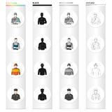 Man, builder, painter, and other web icon in cartoon style.Work, vocation, profession, icons in set collection. Man, builder, painter, and other  icon in Royalty Free Stock Photography