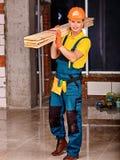 Man in builder uniform Royalty Free Stock Photos