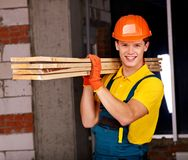 Man in builder uniform. Stock Photography