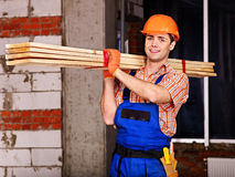 Man in builder uniform. Royalty Free Stock Photos