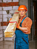 Man in builder uniform. Stock Image