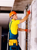 Man in builder uniform. Royalty Free Stock Photos
