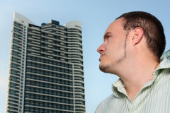 Man and a building Royalty Free Stock Photography
