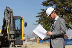 Man on building site Stock Photos