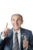 Man with bulb Royalty Free Stock Photo