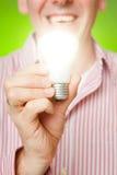 Man with bulb Stock Photos