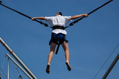 Man on Bungee Rope Royalty Free Stock Image