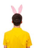 Man with Bunny Ears Stock Image
