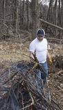 Man buring brush Royalty Free Stock Photos