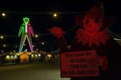 The Man at Burning Man 2015 + Clown Royalty Free Stock Photo