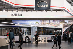 MAN Bus company stand Royalty Free Stock Photos