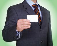 Man and business card Royalty Free Stock Images