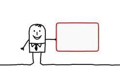 Man & business card stock illustration