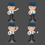 Man Business Cartoon Illustration Set Vector Royalty Free Stock Images