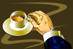 Man business  and coffee art Stock Photos