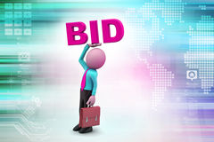 Man with business concept Stock Images