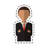 Man business crossed arms suit necktie cutting line. Vector illustration eps 10 Royalty Free Stock Photo
