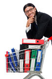 Man with business folders Stock Photo