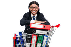 Man with business folders Royalty Free Stock Photo