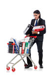 Man with business folders Royalty Free Stock Photography