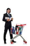 Man with business folders Stock Images