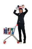 Man with business folders Stock Image