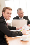 Man on business meeting. Royalty Free Stock Images