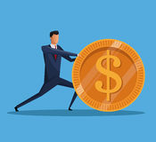 Man business money financial economy. Vector illustration eps 10 Stock Image