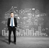 Man with business plan Royalty Free Stock Image