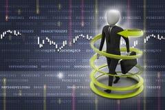 Man business success concept. 3d man business success concept Royalty Free Stock Photo