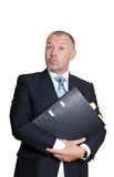 Man in a business suit. Shows fingers sign OK Stock Photography